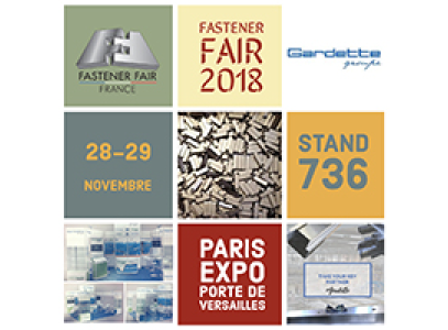 Meet our teams at the next Fastener Fair happening in Paris!