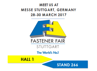 Visit us at the Fastener Fair Stuttgart !